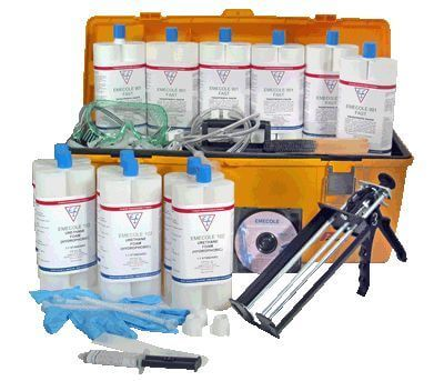 Concrete foundation basement crack repair kits