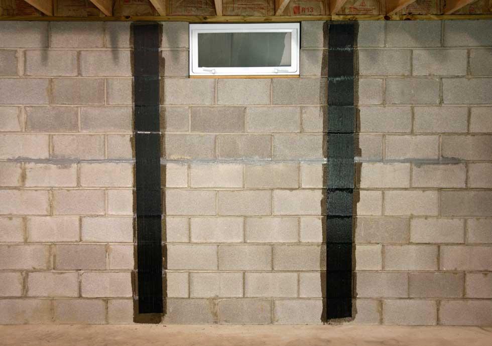 Bowed wall crack repair kit carbon fiber wall foundation repair solutioingenieria Choice Image