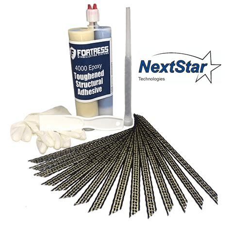 Carbon Fiber Grid Stitch Concrete Repair Kit