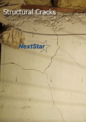 Structural spider concrete foundation cracks