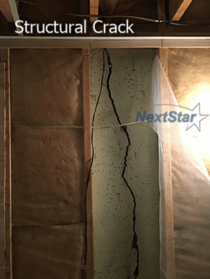 Structural Foundation crack