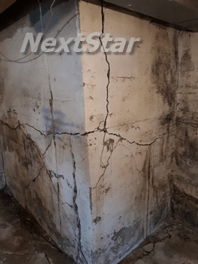 Picture example of a structural crack
