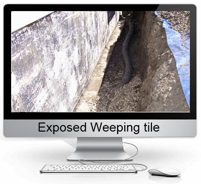 Weeping tile example