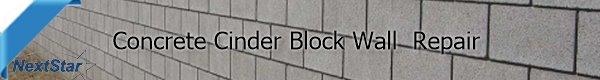 Concrete Cinder Black wall repair