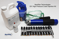 High pressure crack injection kit