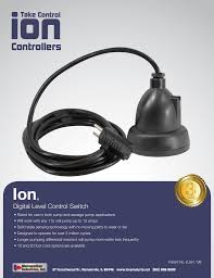 Sump Pump Ion Digital Water Level Control