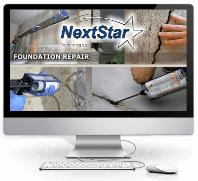 NextStar technologies concrete cracks foundation resoration injection and repair Concrete floor repair products
