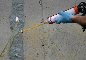 ... polyurethane concrete crack injection and repair epoxy injection can also be used for structural repair & NextStar Foundation Concrete Crack injection process and products